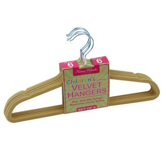Karen Rhodes Collection Velvet Hangers Set of 6