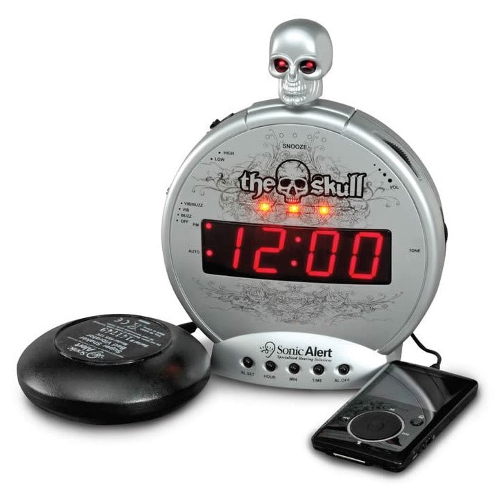Sonic Alert 'The Skull' MP3 Alarm Clock with Bone Crusher...