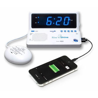 Sonic Alert Rise 'n Shine Alarm Clock with Super Shaker