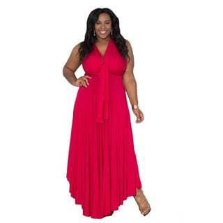 Sealed with a Kiss Women's Plus Size 'Eternity' Maxi Convertible Dress