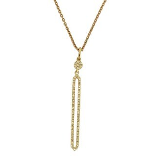Kabella 14k Gold 1/6ct TDW Diamond Open Geometric Necklace (G-H, I1-I2)