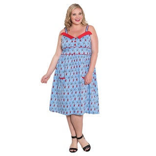 Sealed with a Kiss Women's Plus Size 'Peggy' Sweetheart Dress