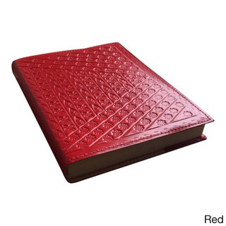 Handcrafted 8-inch Embossed Leather Refillable Journal/ Travel Diary (India)