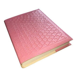 Handmade 8-inch Embossed Leather Refillable Journal/ Travel Diary (India)