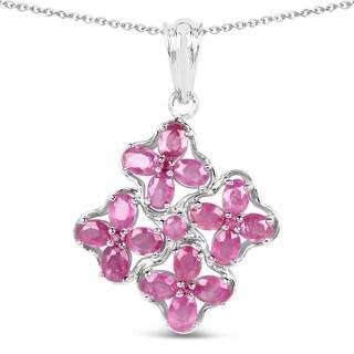 Olivia Leone .925 Sterling Silver 3.72 Carat Genuine Ruby Pendant