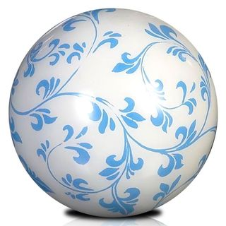 East At main's Eden Blue and White Decorative Ball Décor