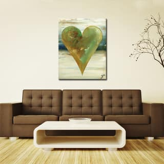 Elijah' Heartwork Wrapped Canvas Wall Art