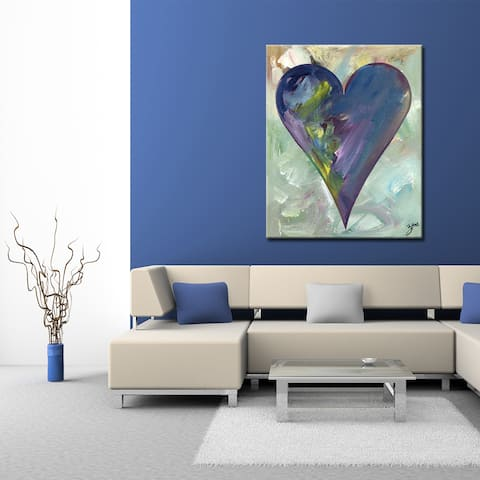 Connor' Heartwork Wrapped Canvas Wall Art