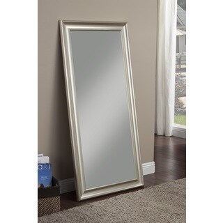 Sandberg Furniture Champagne Silver Finish Full Length Leaner Mirror