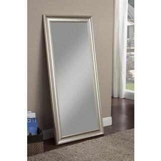 Sandberg Furniture Champagne Silver Finish Full Length Leaner Mirror