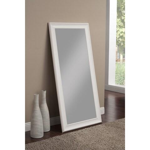 Havenside Home Pascagoula Frost White Full Length Leaner Mirror