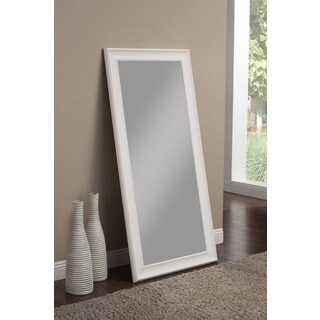 Havenside Home Pascagoula Frost White Full Length Leaner Mirror