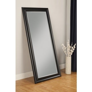 Sandberg Furniture Black Finish Full Length Leaner Mirror