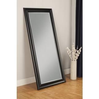sandberg furniture black finish full length leaner mirror - Wood Frame Full Length Mirror
