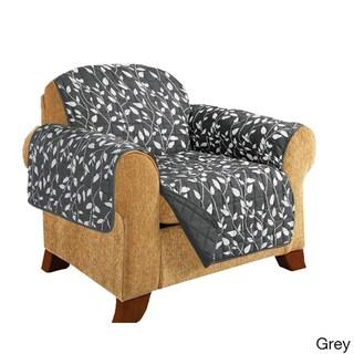 Elegant Comfort Leaf Design Quilted Reversible Chair Furniture Protector