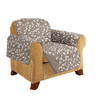 Elegant Comfort Leaf Design Quilted Reversible Chair Furniture Protector