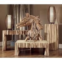 Central Decorative Teak Horse D?cor