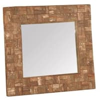 East At Main's Convent Square Wooden Decorative Mirror
