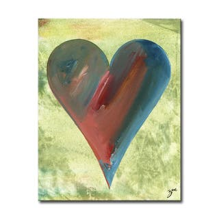 Heather' Heartwork Wrapped Canvas Wall Art
