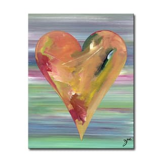 Haley' Heartwork Wrapped Canvas Wall Art