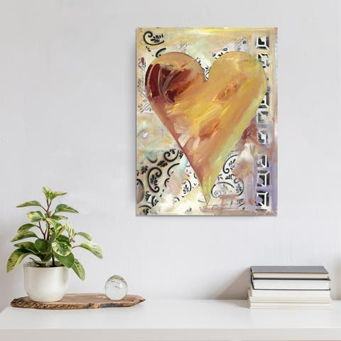 Fabienne' Heartwork Wrapped Canvas Wall Art
