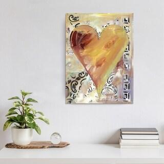 """Ready2HangArt Zane Heartwork """"Fabienne"""" Canvas Art"""