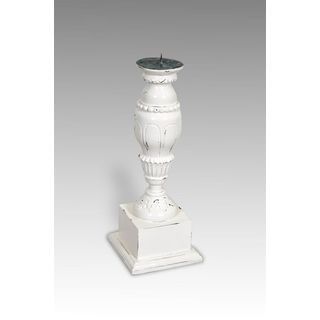 Antique White Addis Candle Stand