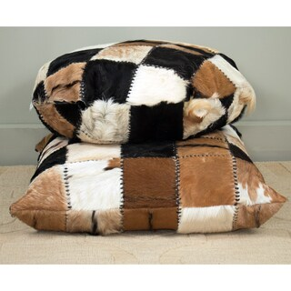 East At Main's Baskin Square Patchwork Throw Pillow