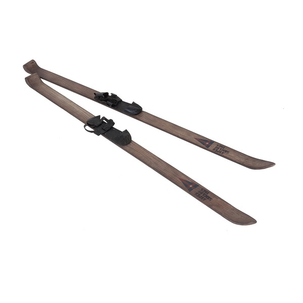 Shop Boothville Vintage Decorative Wooden Skis Free Shipping Today