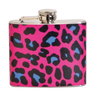 Pink Leopard Fun 5-ounce Pink Party Flask