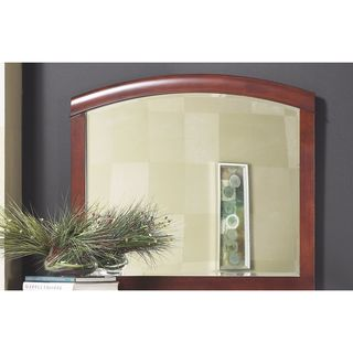 Tropical Mahogany and Cherry Arched Mirror in Cinnamon - A/N