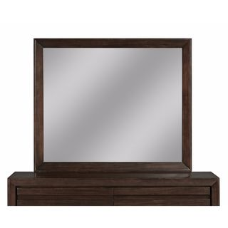Finger Pull Picture Frame Mirror in Chocolate Brown