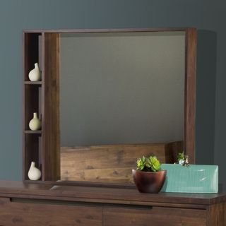Asymmetrical Solid Wood Mirror
