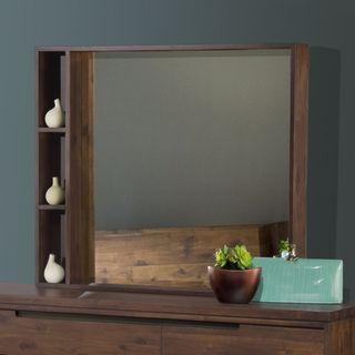 Asymmetrical Solid Wood Mirror