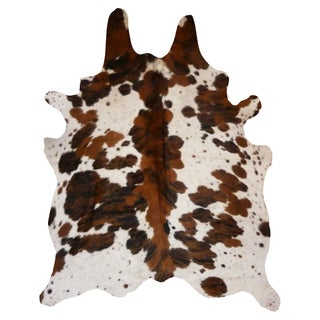 Tricolor Cowhide Rug Spine (6' x 7')