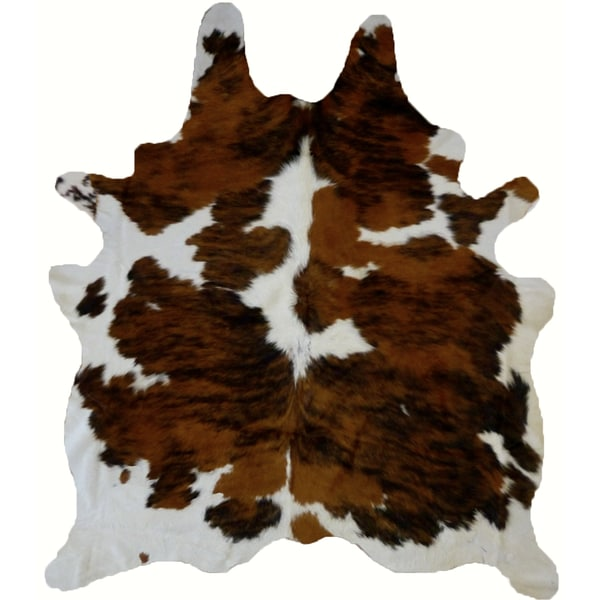 Shop Real Cowhide Rug Tricolor & White