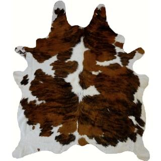 Brown Tricolor Cowhide Rug (6' x 7')