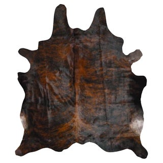 Dark Brindle Cowhide Rug (6' x 7')