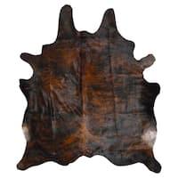 Dark Brindle Cowhide Rug - 6' x 7'