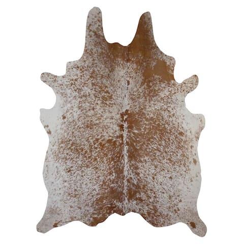 Salt and Pepper Brown Cowhide Rug (6' x 7') - 6' x 7'