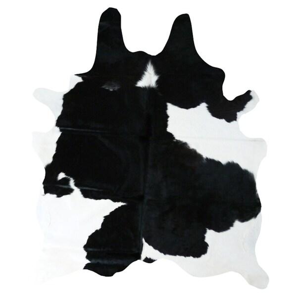 Safavieh Handpicked Hacienda Argentinian Zebra Print: Black And White Cowhide Rug (6' X 7')