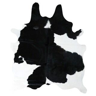 Black and White Cowhide Rug (6' x 7') - 6' x 7'