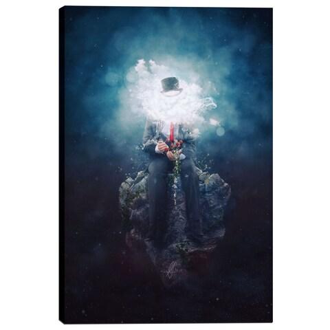 Cortesi Home Mario Sanchez Nevado 'Patience' Giclee Canvas Wall Art - Blue