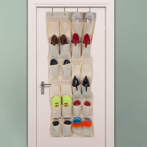 Windsor Home Over the Door Shoe Organizer - Fits 24 Shoes