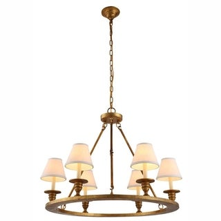 Chester Collection 1402 Pendant lamp with Golden Iron Finish