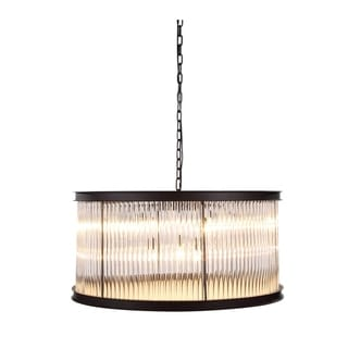 Elegant Lighting Royale Collection 1217 Pendant Lamp with Mocha Brown Finish