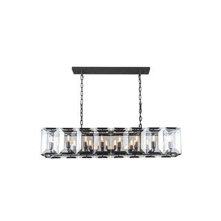 Elegant Lighting Monaco Collection 1212 Pendant Lamp with Flat Black Matte Finish