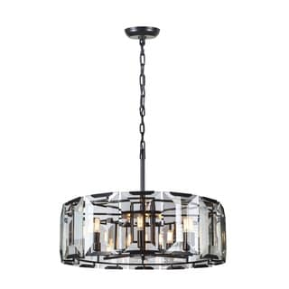 Elegant Lighting Monaco Collection 1211 Pendant Lamp with Flat Black Matte Finish