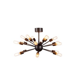 Elegant Lighting Cork Collection 1135 Pendant Lamp with Vintage Steel Finish