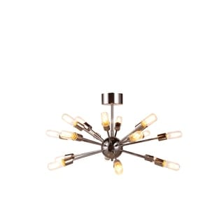 Elegant Lighting Cork Collection 1135 Pendant Lamp with Polished Nickel Finish